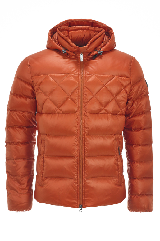 Herren Daunenjacke AURO , BLOOD ORANGE, S
