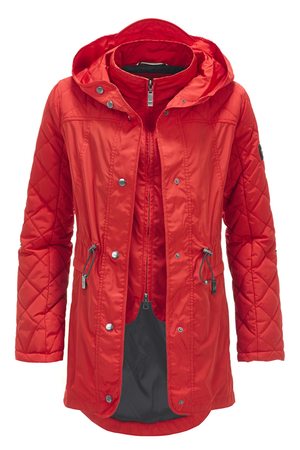 Damen Parka AICHA , CHINA RED, XXXL