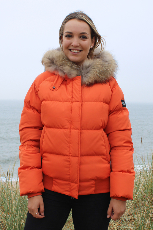 Damen Daunenjacke ARMELLE , BURNED ORANGE, XS