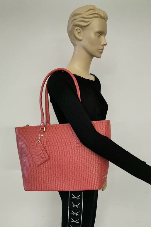 SB-1351-086 Shopper Bag , ONE SIZE, CORAL