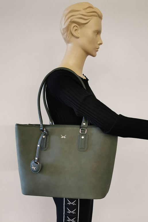 SB-2005-048 Shopper Bag , ONE SIZE, OLIVE