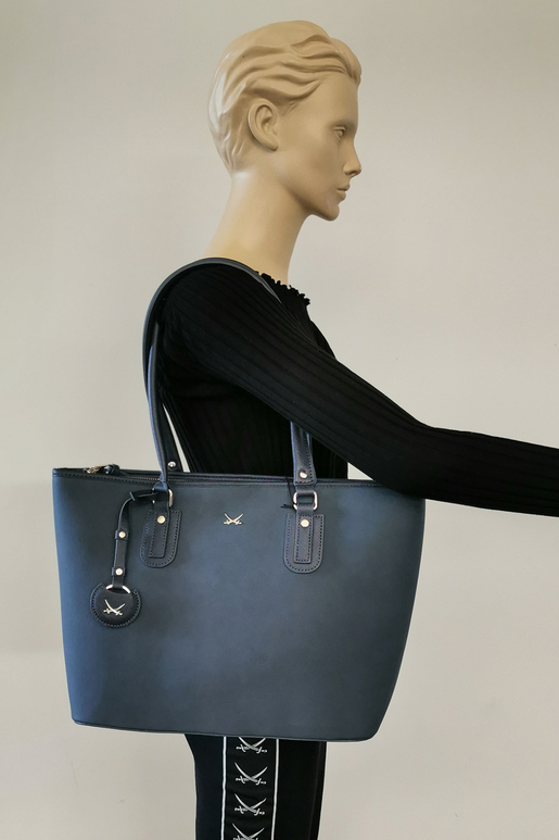 SB-2005-158 Shopper Bag , ONE SIZE, BLUE