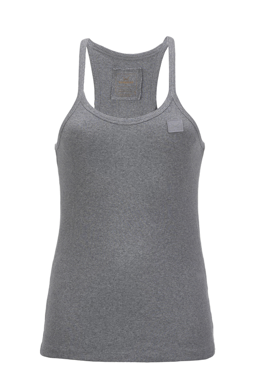 Damen Top BASIC , GREYMELANGE, S