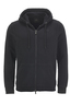 Unisex Sweatjacke BASIC , BLACK, M