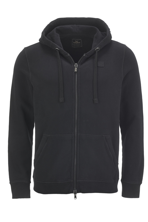 Unisex Sweatjacke BASIC , BLACK, XXS