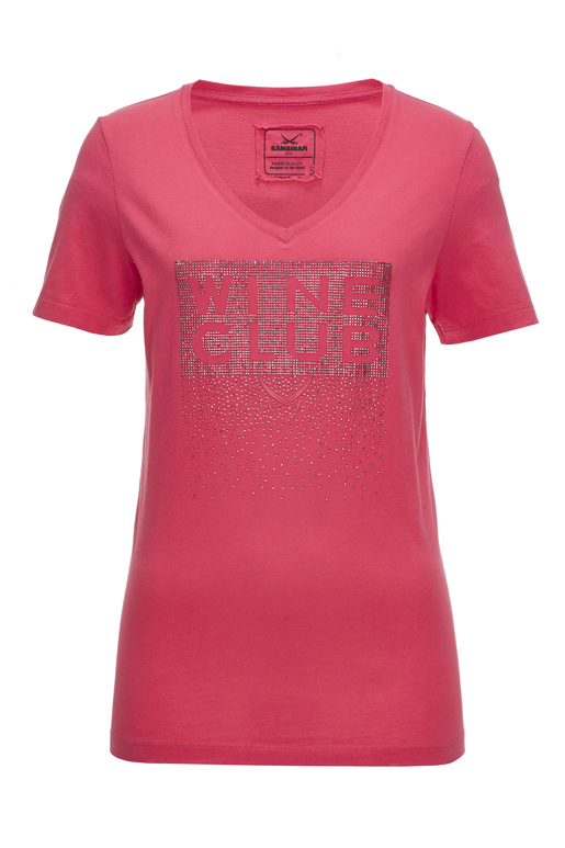 Damen T-Shirt WINE CLUB , PINK, XXS