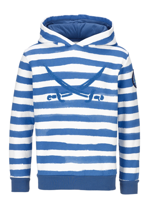Kinder Hoody STRIPES , BLUE, 140/146