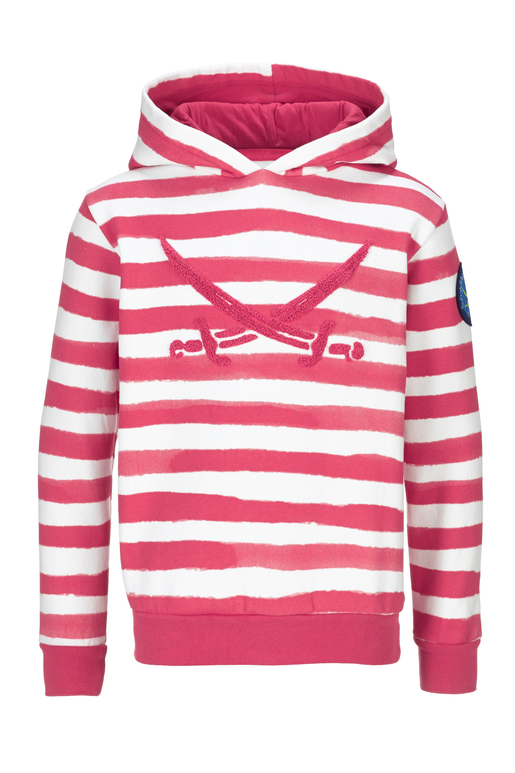 Kinder Hoody STRIPES , PINK, 152/158
