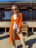 Damen Cardigan , ORANGE, XS