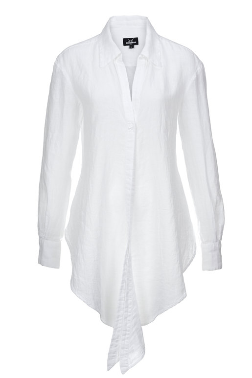 Damen Wickelbluse , WHITE, L