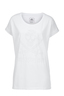 Damen T-Shirt DEVORÈ SKULL , WHITE, M