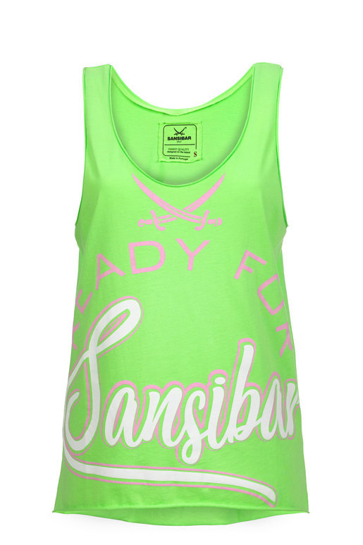 Damen Top READY FOR , NEON GREEN, M