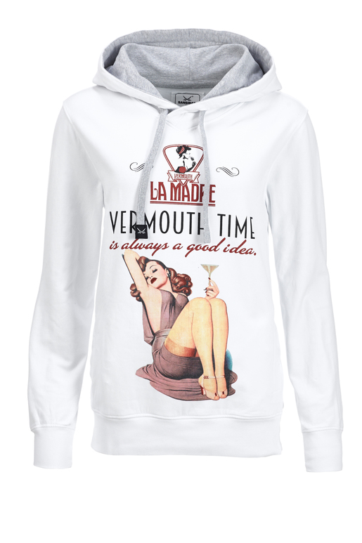 Hoody VERMOUTH TIME , WHITE, S