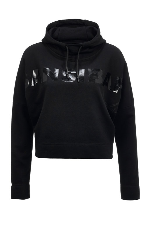 Damen Hoody CROPPED , BLACK, XXXL