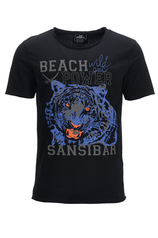 Herren T-Shirt TIGER , BLACK, L