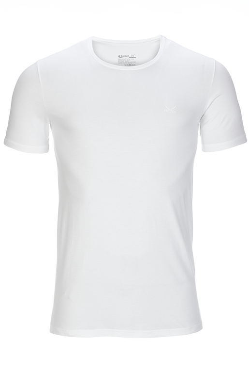 Herren Basic T-Shirt , WHITE, XXL