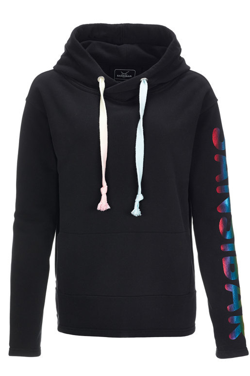 Damen Hoody RAINBOW , BLACK, XS