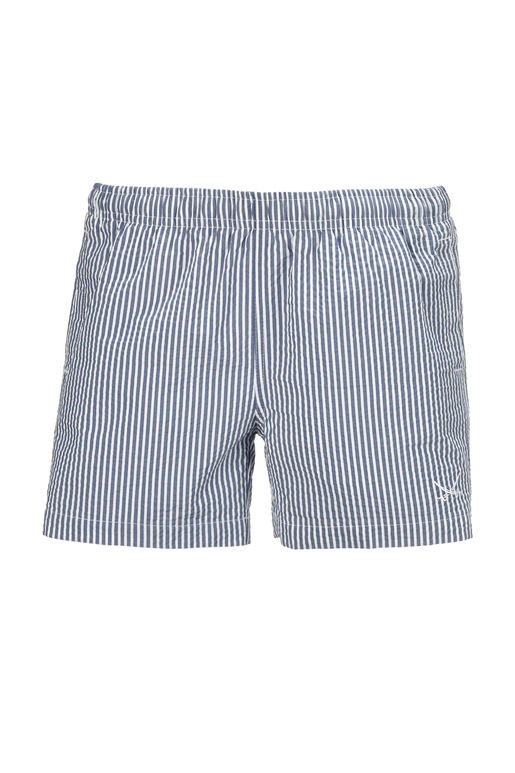 Kinder Badeshorts SEERSUCKER , NAVY/WHITE, 104/110