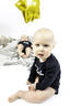 Baby Body Langarm SWORDS , BLACK, 3-6M