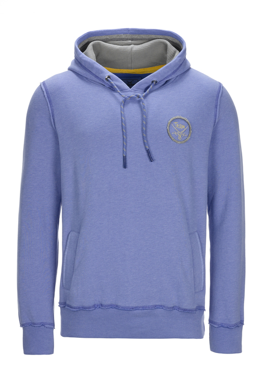 Herren Hoody PLACE TO BE , BLUE MELANGE, XL
