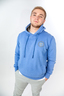 Herren Hoody PLACE TO BE , BLUE MELANGE, XS