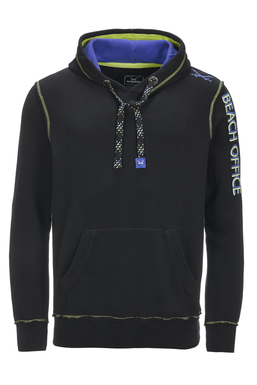 Herren Hoody BEACH OFFICE , BLACK, S