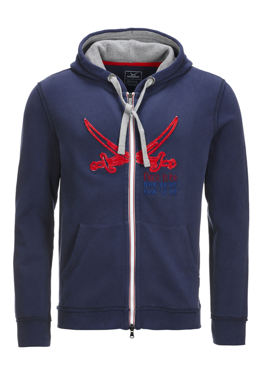 Herren Sweatjacke PLACE TO BE , NAVY, XS