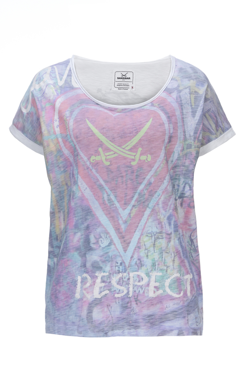Damen T-Shirt RESPECT , WHITE, XS
