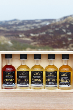 Whisky Tasting Set in Holzkiste 5x 5cl