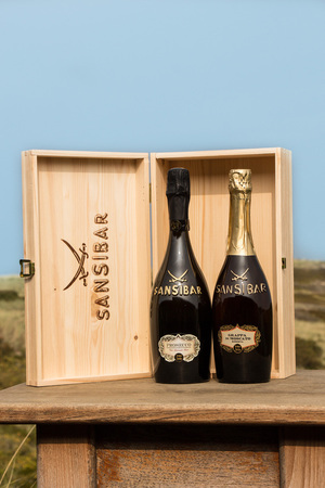 Sansibar Duo Grappa und Prosecco in Holzkiste