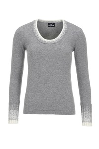 Damen Strickpullover Art. 912, Grey, Gr. L