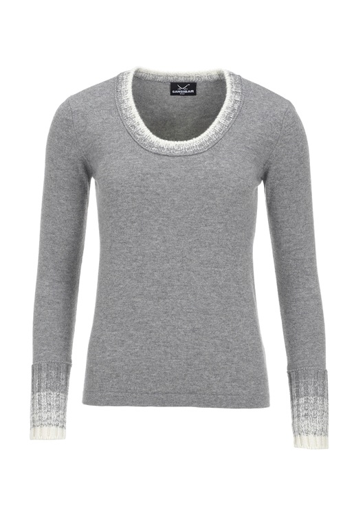 Damen Strickpullover Art. 912, Grey, Gr. XXXL