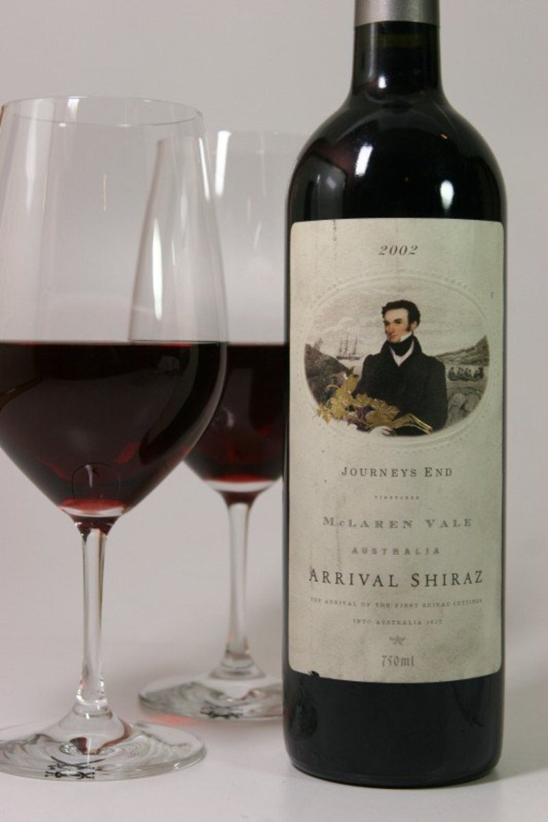 "2002er Journeys End Shiraz ""Ascent"" Heathcote 0,75Ltr"
