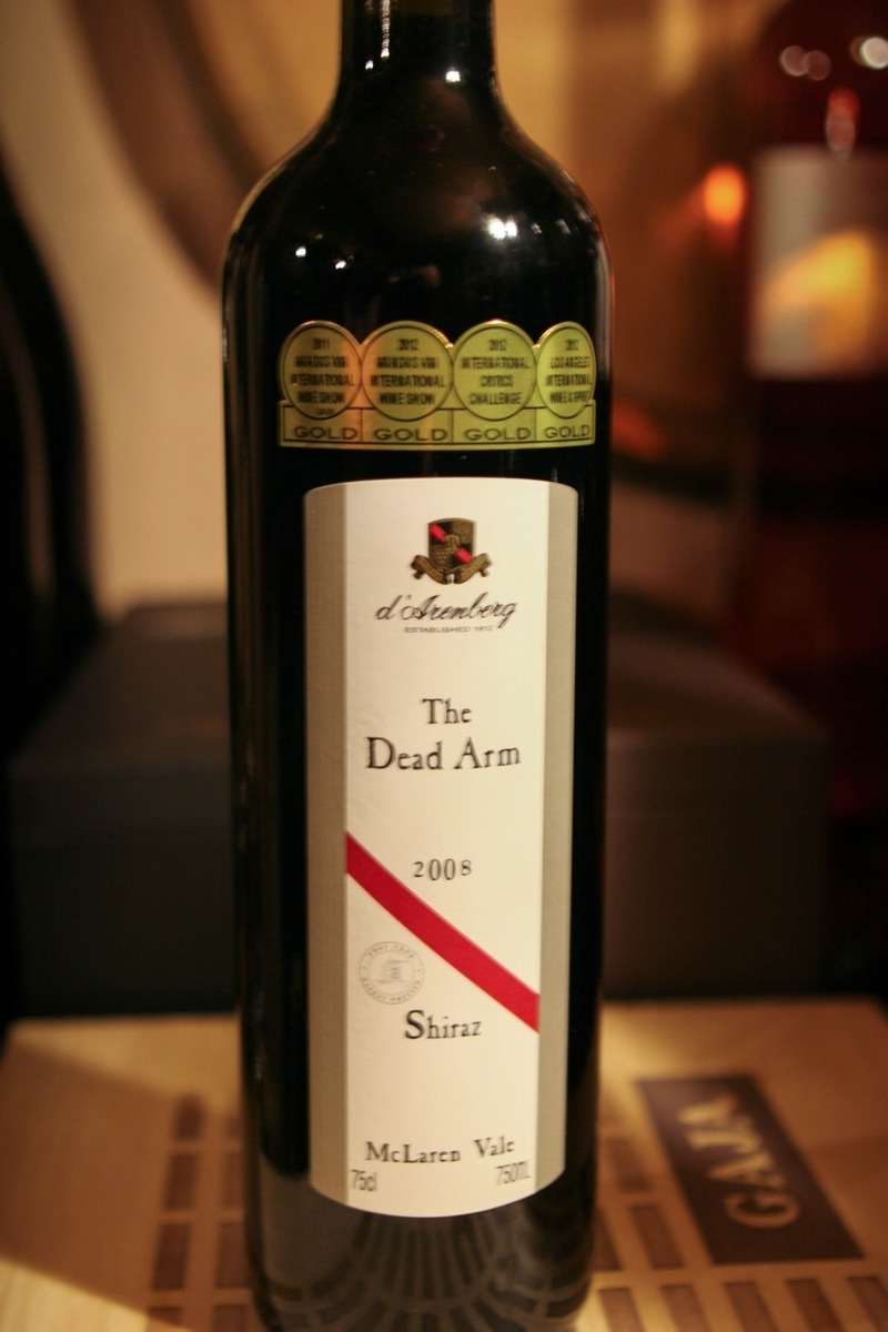 "2008er D´Arenberg Winery ""Dead Arm"" Shiraz 0,75Ltr"