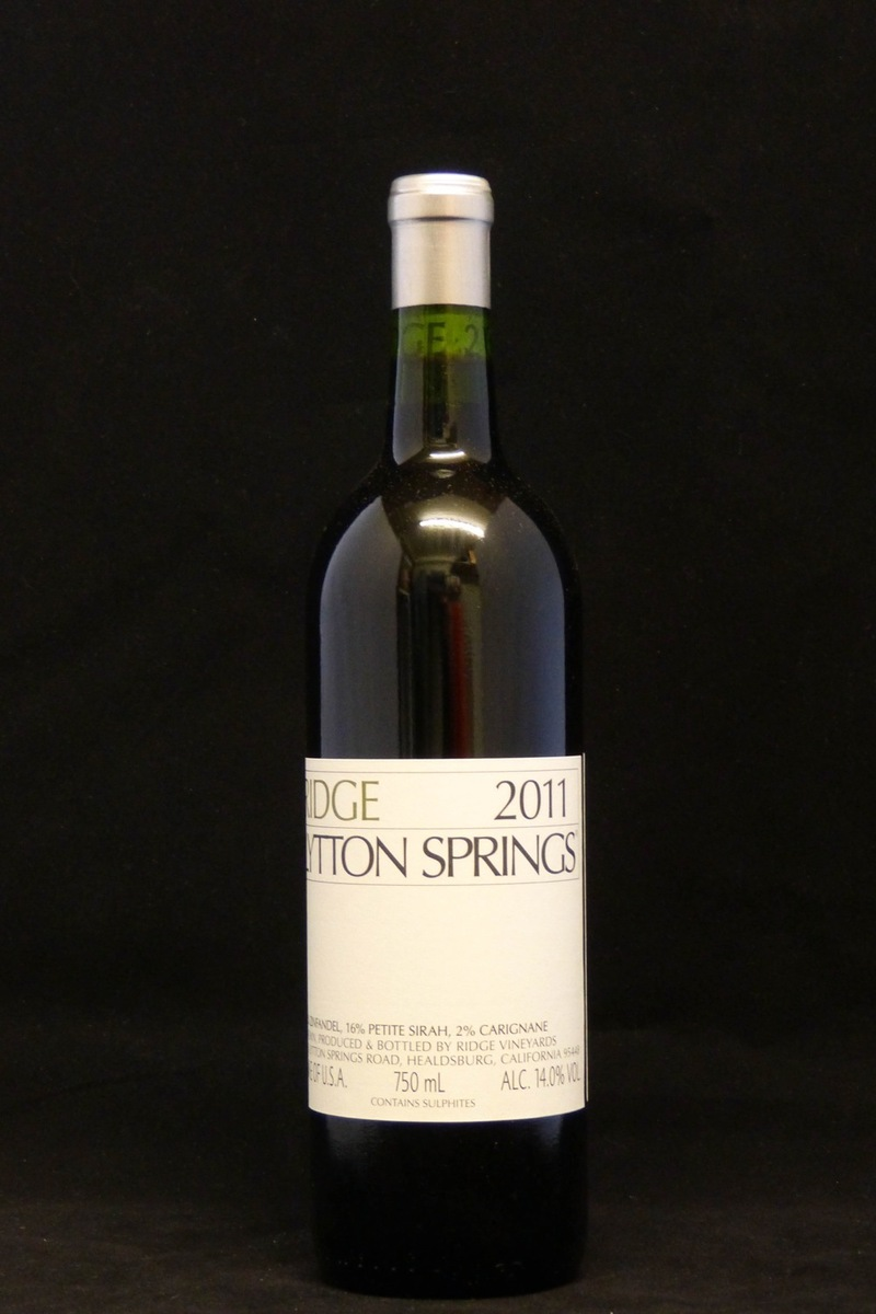 "2011er Ridge ""Lytton Springs"" 0,75Ltr"