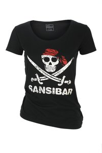 Damen T-Shirt SKULL , Black, Gr. XXL