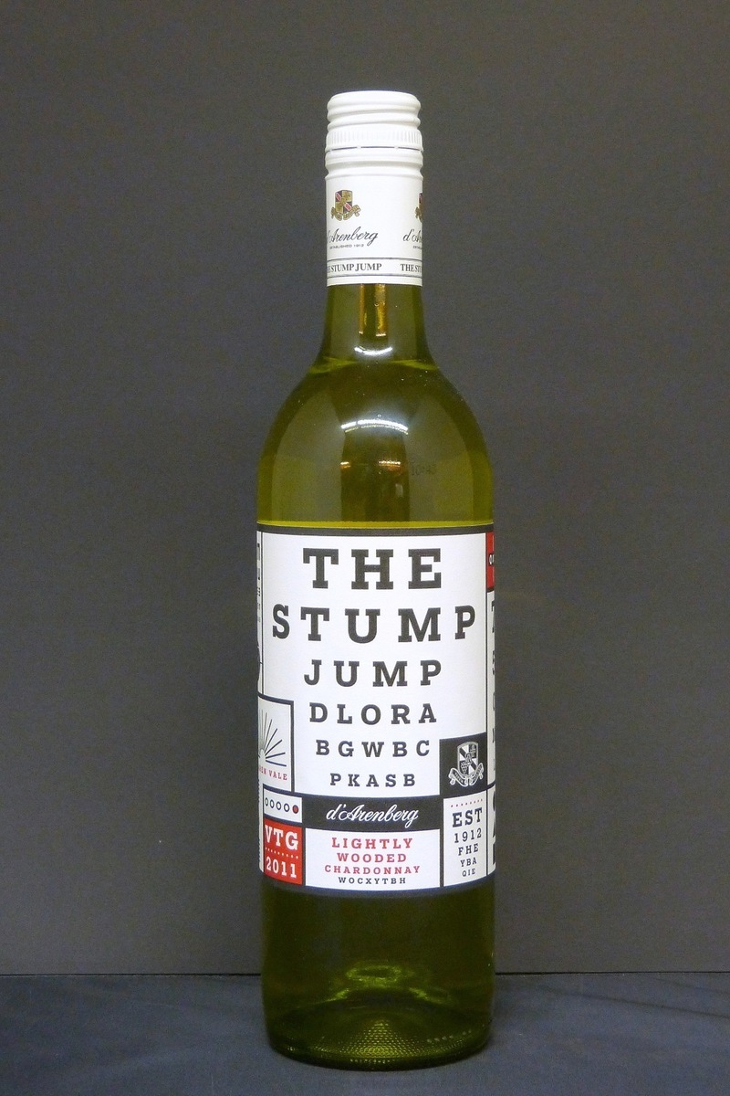 2011 D´Arenberg Winery The Stump Jump Chardonnay lightly wooded 0,75Ltr