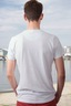 Herren T-Shirt Knopfleiste The Original 0112 white , Gr. S