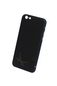 Iphone 6 Plus Carbon Hülle/Cover schwarz mit Logo anthrazit