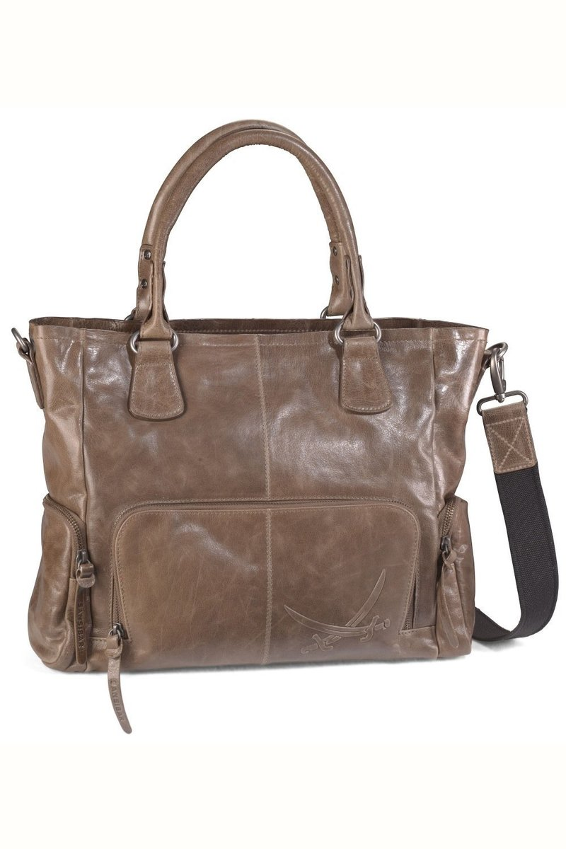 B-038 BA Shopper Bag A4, Khaki, Gr. one size