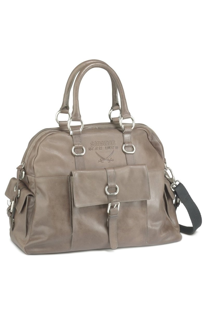 B-081 HA Shopper Bag A4 , Taupe, Gr. one size