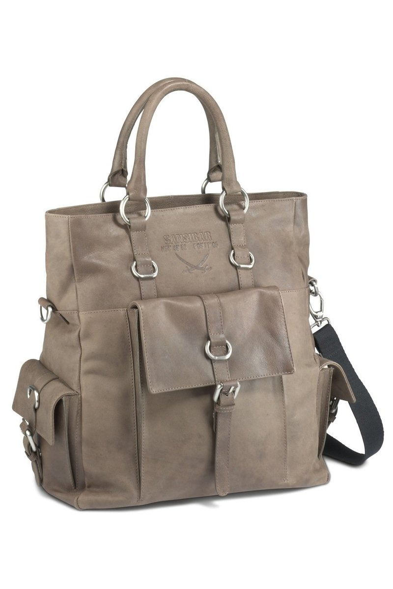 B-082 HA Shopper Bag A4, Taupe, Gr. one size