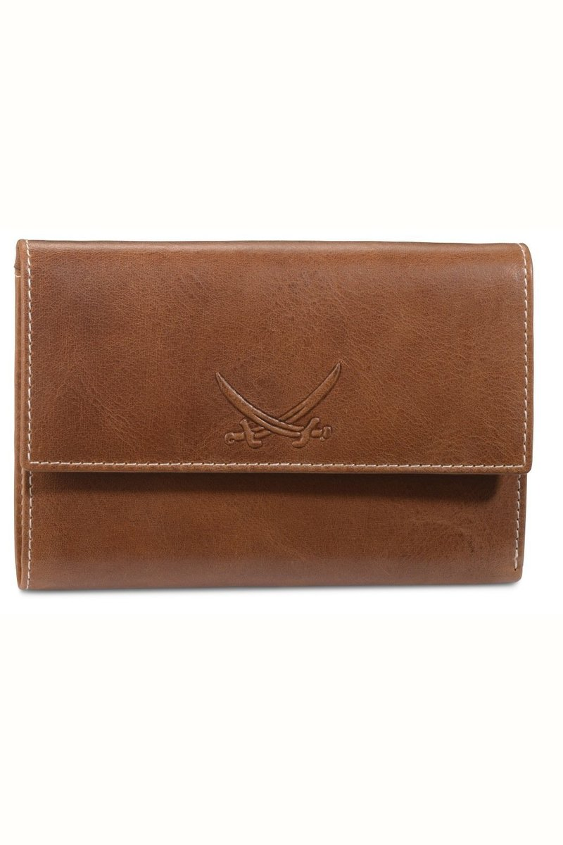 B-085 PO Ladies Wallet, Cognac, Gr. one size