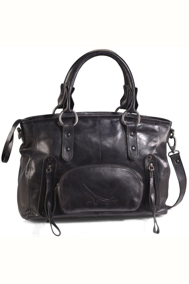 B-089 PO Shopper Bag A4, Black, Gr. one size