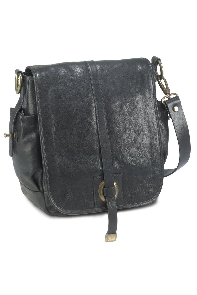 B-123 BY Flap Bag, Black, Gr. one size