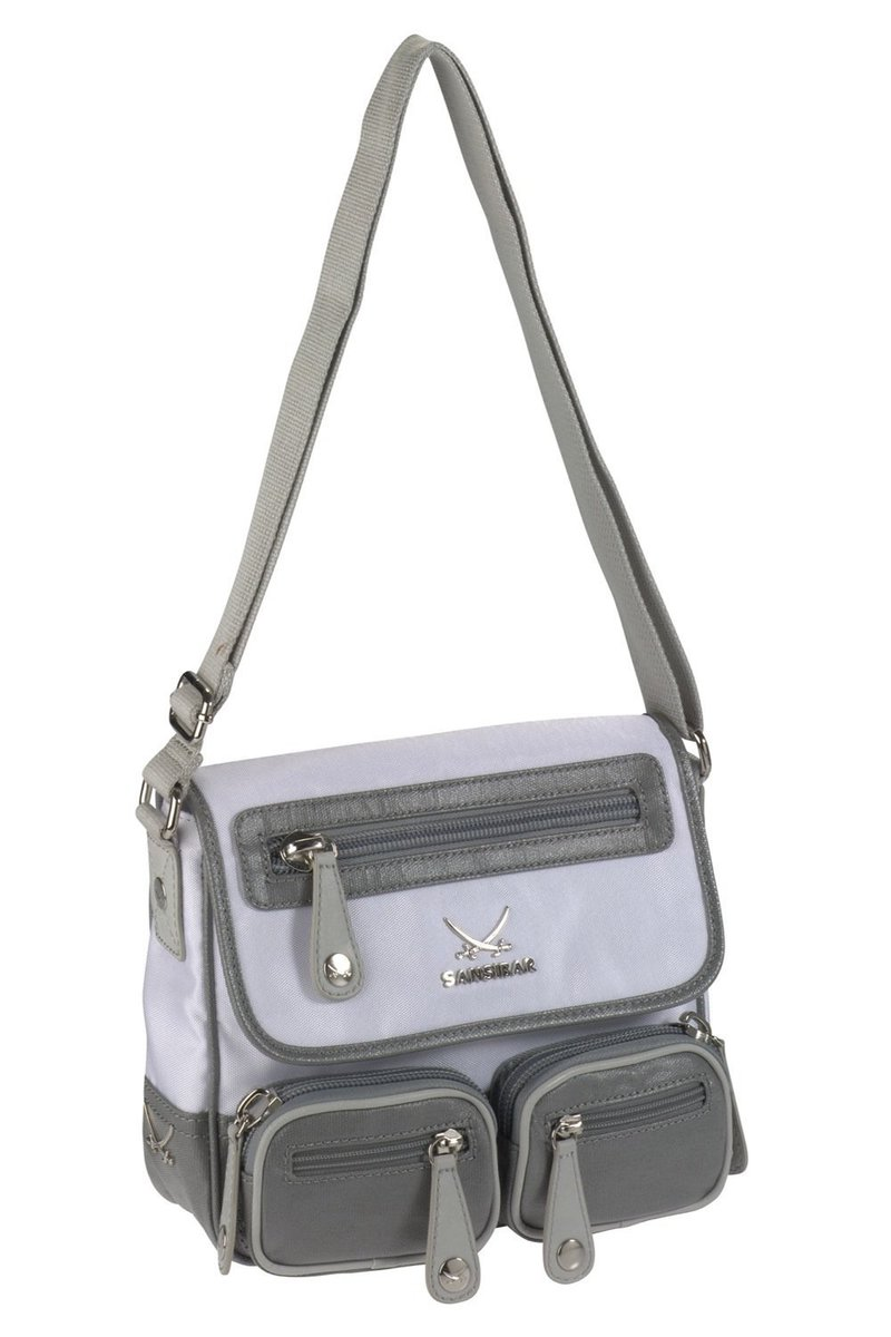 B-403 CI Flap Bag, White, Gr. one size