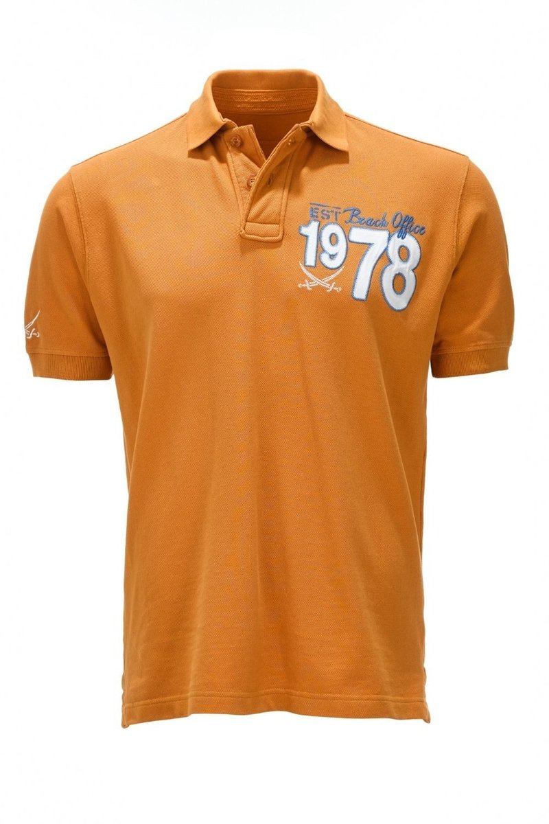 Herren Poloshirt 1978 BEACH OFFICE 0113, Topaz, Gr. L