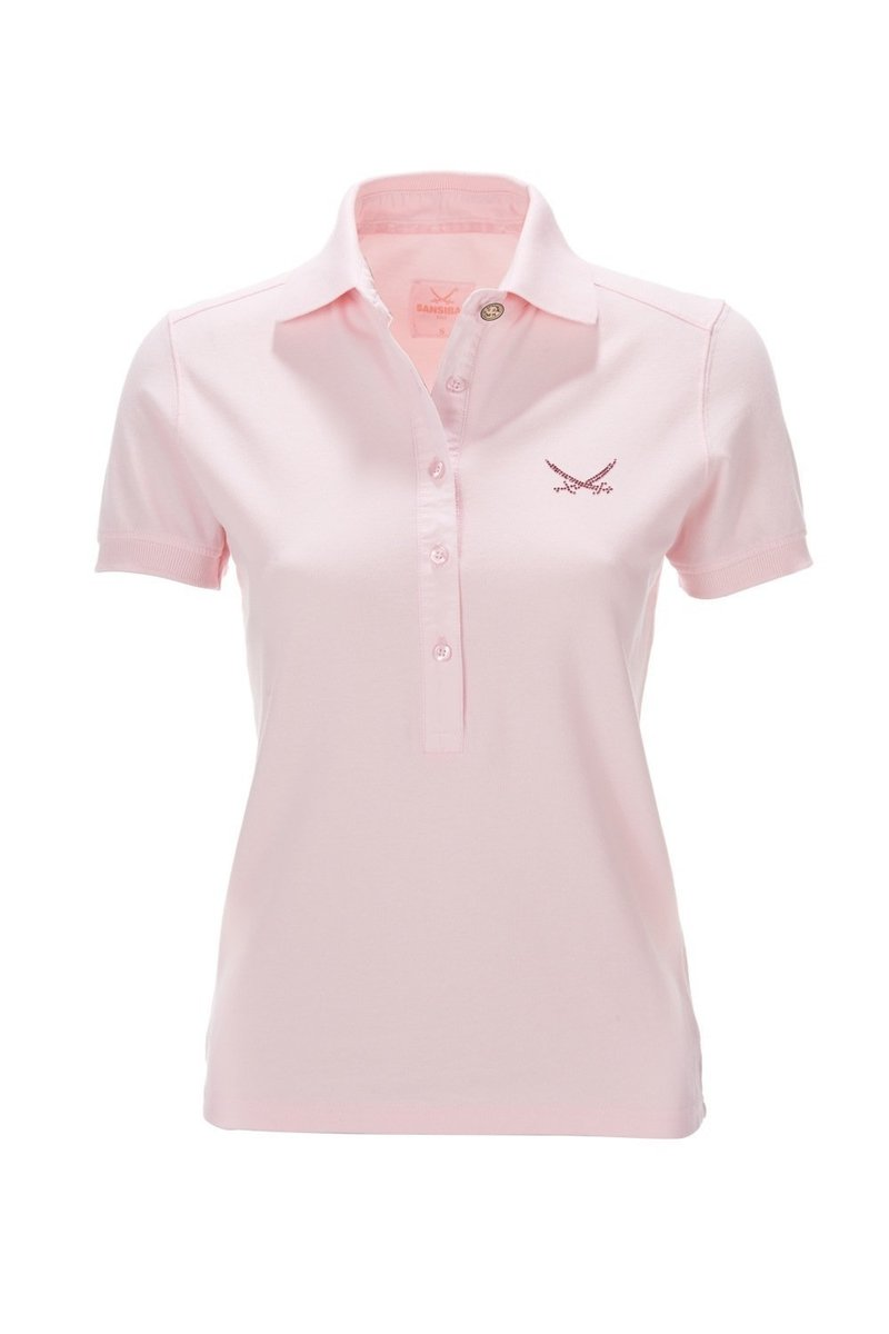 Damen Polo Shirt KA LEISE 0113, Rosé, Gr. XS