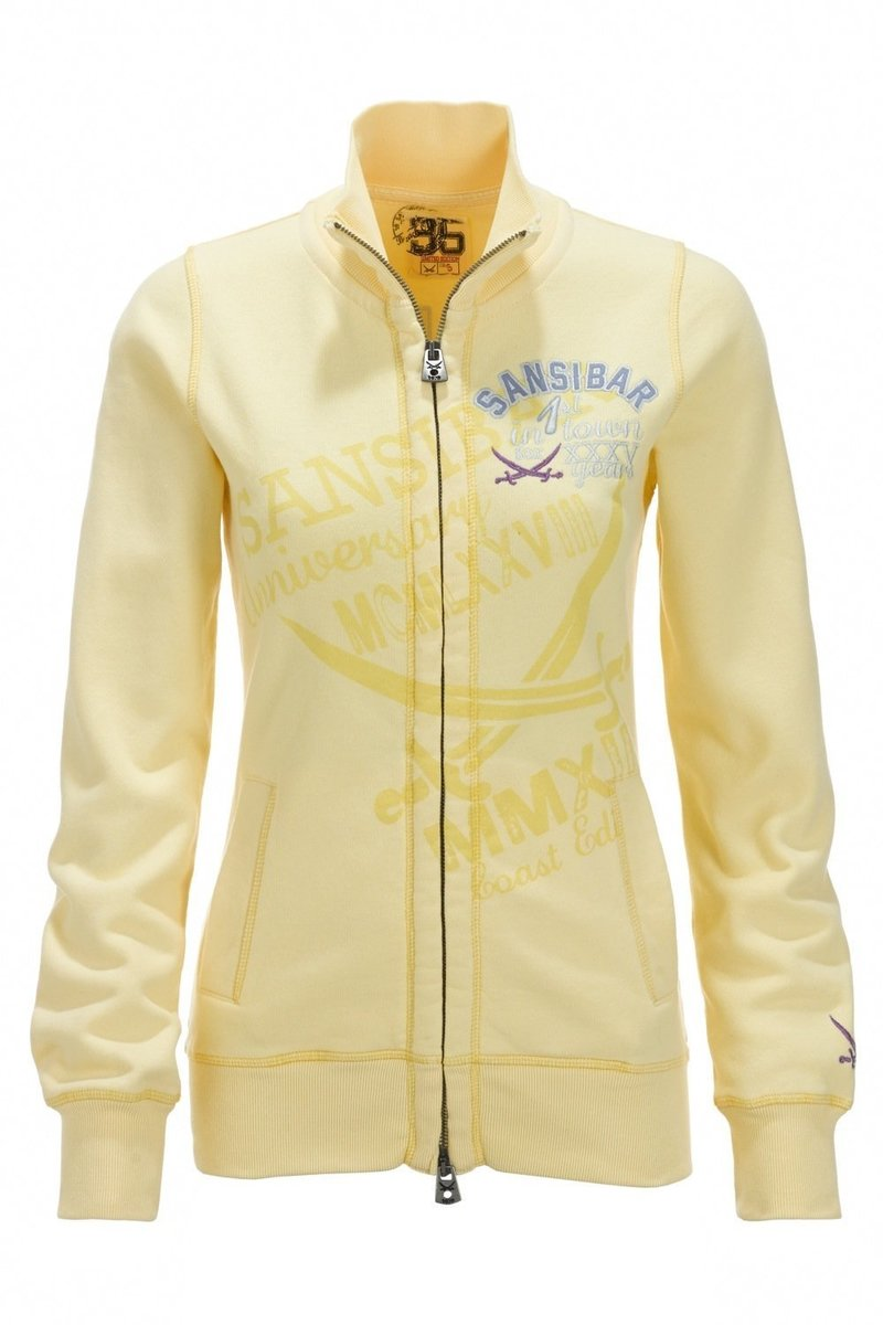 Damen Sweatjacke 35 years, Limoncello, Gr. XXL