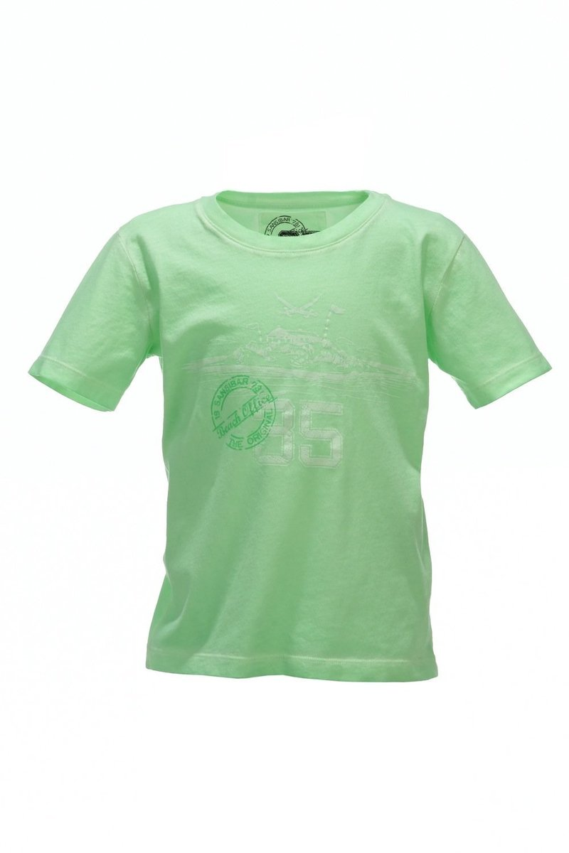 Kinder T-Shirt 35 Years, Neon green, Gr. 92/98